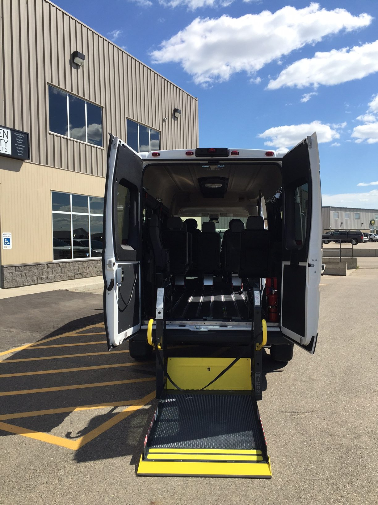 ram promaster  extended high roof smart floor system golden mobility